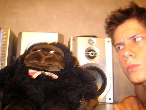 Dennis Kotelnikov, funny photo with monkey
